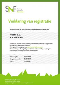 SNF certificaat Hubbs